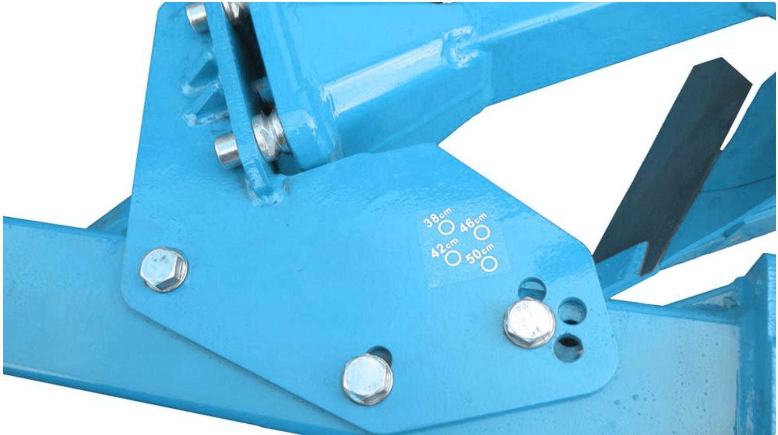 réglage mécanique largeur charrue Steimer